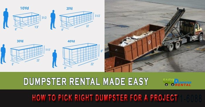 How to Pick Right Dumpster For a Project